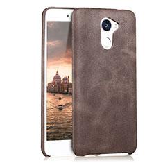 Coque Luxe Cuir Housse pour Huawei Enjoy 7 Plus Marron