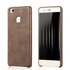 Coque Luxe Cuir Housse pour Huawei G9 Lite Marron