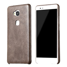 Coque Luxe Cuir Housse pour Huawei GR5 Marron