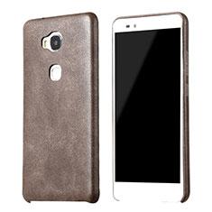 Coque Luxe Cuir Housse pour Huawei GR5 Marron