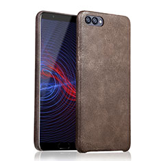 Coque Luxe Cuir Housse pour Huawei Honor 10 Marron