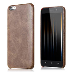 Coque Luxe Cuir Housse pour Huawei Honor 4X Marron
