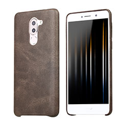 Coque Luxe Cuir Housse pour Huawei Honor 6X Pro Marron