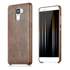 Coque Luxe Cuir Housse pour Huawei Honor 7 Dual SIM Marron