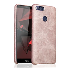 Coque Luxe Cuir Housse pour Huawei Honor 7X Or