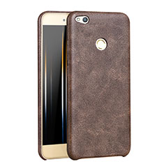 Coque Luxe Cuir Housse pour Huawei Honor 8 Lite Marron