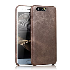 Coque Luxe Cuir Housse pour Huawei Honor 9 Marron