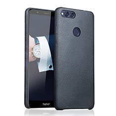 Coque Luxe Cuir Housse pour Huawei Honor Play 7X Bleu