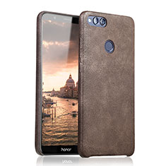 Coque Luxe Cuir Housse pour Huawei Honor Play 7X Marron