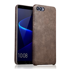 Coque Luxe Cuir Housse pour Huawei Honor View 10 Marron