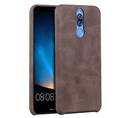 Coque Luxe Cuir Housse pour Huawei Maimang 6 Marron