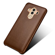 Coque Luxe Cuir Housse pour Huawei Mate 10 Pro Marron