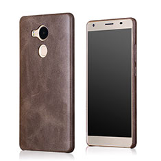 Coque Luxe Cuir Housse pour Huawei Mate 8 Marron