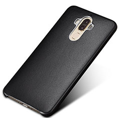 Coque Luxe Cuir Housse pour Huawei Mate 9 Noir