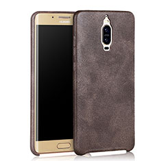Coque Luxe Cuir Housse pour Huawei Mate 9 Pro Marron