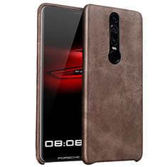 Coque Luxe Cuir Housse pour Huawei Mate RS Marron