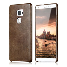 Coque Luxe Cuir Housse pour Huawei Mate S Marron