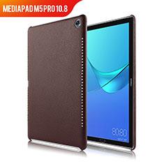 Coque Luxe Cuir Housse pour Huawei MediaPad M5 Pro 10.8 Marron
