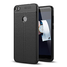 Coque Luxe Cuir Housse pour Huawei P8 Lite (2017) Noir