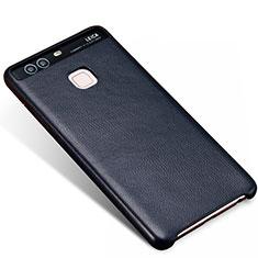 Coque Luxe Cuir Housse pour Huawei P9 Bleu