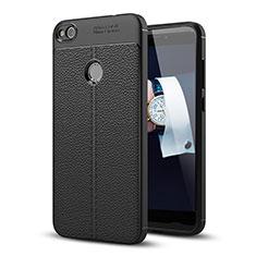 Coque Luxe Cuir Housse pour Huawei P9 Lite (2017) Noir