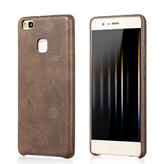 Coque Luxe Cuir Housse pour Huawei P9 Lite Marron