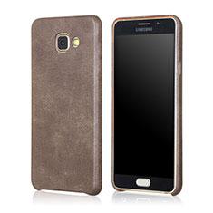 Coque Luxe Cuir Housse pour Samsung Galaxy A5 (2016) SM-A510F Marron