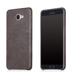 Coque Luxe Cuir Housse pour Samsung Galaxy A8 (2016) A8100 A810F Marron