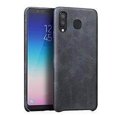 Coque Luxe Cuir Housse pour Samsung Galaxy A8 Star Noir