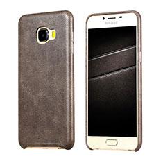 Coque Luxe Cuir Housse pour Samsung Galaxy C7 SM-C7000 Marron