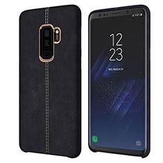 Coque Luxe Cuir Housse pour Samsung Galaxy S9 Plus Noir