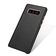 Coque Luxe Cuir Housse W01 pour Samsung Galaxy Note 8 Noir