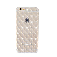 Coque Luxe Strass Bling Diamant Transparente Souple pour Apple iPhone 6 Plus Clair