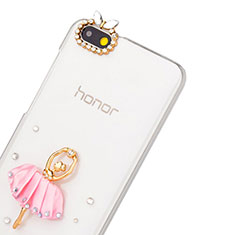 Coque Luxe Strass Diamant Bling Danseuse pour Huawei Honor 4X Rose