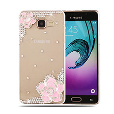 Coque Luxe Strass Diamant Bling Fleurs pour Samsung Galaxy A5 (2016) SM-A510F Rose