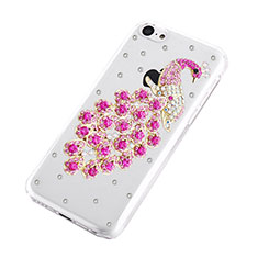 Coque Luxe Strass Diamant Bling Paon pour Apple iPhone 5C Rose