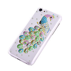Coque Luxe Strass Diamant Bling Paon pour Apple iPhone 5C Vert