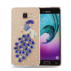 Coque Luxe Strass Diamant Bling Paon pour Samsung Galaxy A5 (2016) SM-A510F Bleu