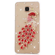 Coque Luxe Strass Diamant Bling Paon pour Samsung Galaxy J7 Prime Rouge