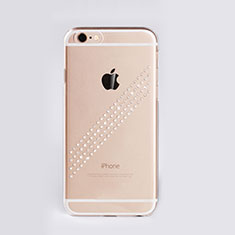 Coque Luxe Strass Diamant Bling pour Apple iPhone 6 Plus Blanc