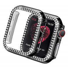 Coque Luxe Strass Diamant Bling pour Apple iWatch 5 44mm Noir