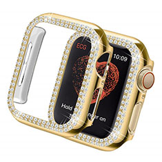 Coque Luxe Strass Diamant Bling pour Apple iWatch 5 44mm Or
