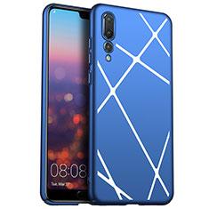 Coque Plastique Housse Etui Rigide Line pour Huawei P20 Pro Bleu