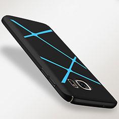 Coque Plastique Housse Etui Rigide Line pour Samsung Galaxy S7 G930F G930FD Bleu Ciel