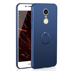 Coque Plastique Housse Etui Rigide Mat avec Support Bague Anneau A01 pour Huawei Enjoy 6 Bleu