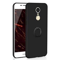 Coque Plastique Housse Etui Rigide Mat avec Support Bague Anneau A01 pour Huawei Enjoy 6 Noir