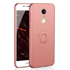 Coque Plastique Housse Etui Rigide Mat avec Support Bague Anneau A01 pour Huawei Enjoy 6 Or Rose