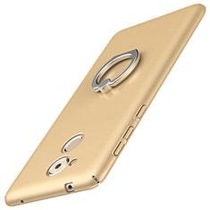 Coque Plastique Housse Etui Rigide Mat avec Support Bague Anneau A01 pour Huawei Enjoy 6S Or