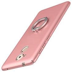Coque Plastique Housse Etui Rigide Mat avec Support Bague Anneau A01 pour Huawei Enjoy 6S Rose