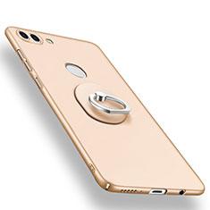 Coque Plastique Housse Etui Rigide Mat avec Support Bague Anneau A01 pour Huawei Enjoy 8 Plus Or